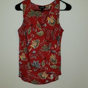 Tops - Red floral top